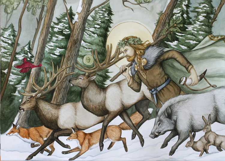 Freys hermetic supplies pagan sabbat greeting cards inside greeting the lord has died we call to thee to bring light to the world for all to see holly die oak grow warm the land theres seeds to sow m4hsunfo